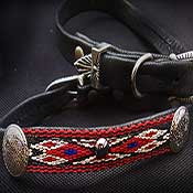 Designer Deer Leather Dog Collar