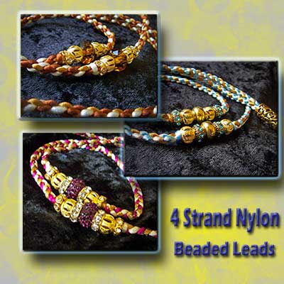 Nylon Dog Show Lead with Beads
