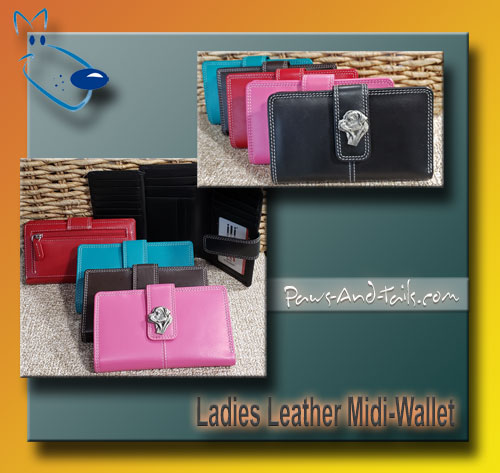 Leather Wallet with Breed Consho