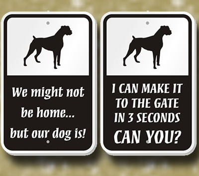 breed signs fence gate 2.8 , Breed Sign - Make It To The Fence, dog sign